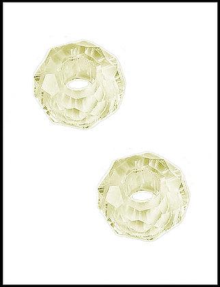 Κρυστάλλινη Χάνδρα Οβάλ Κίτρινο 14mm Τρύπα 5mm