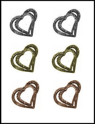 Καρδιά Μεταλλική 2,5cm x 2,5cm