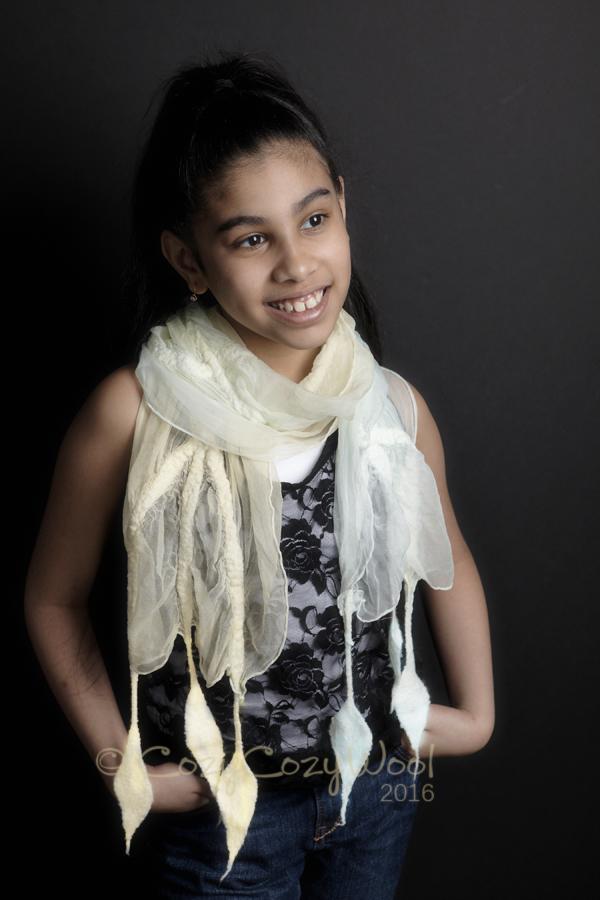 pastel color spring scarf