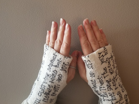 Fingerless superfine merino gloves/ wrist warmers