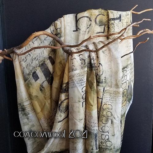 Silk chiffon fabric with print
