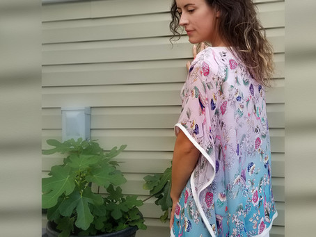 Dressy silk tunic
