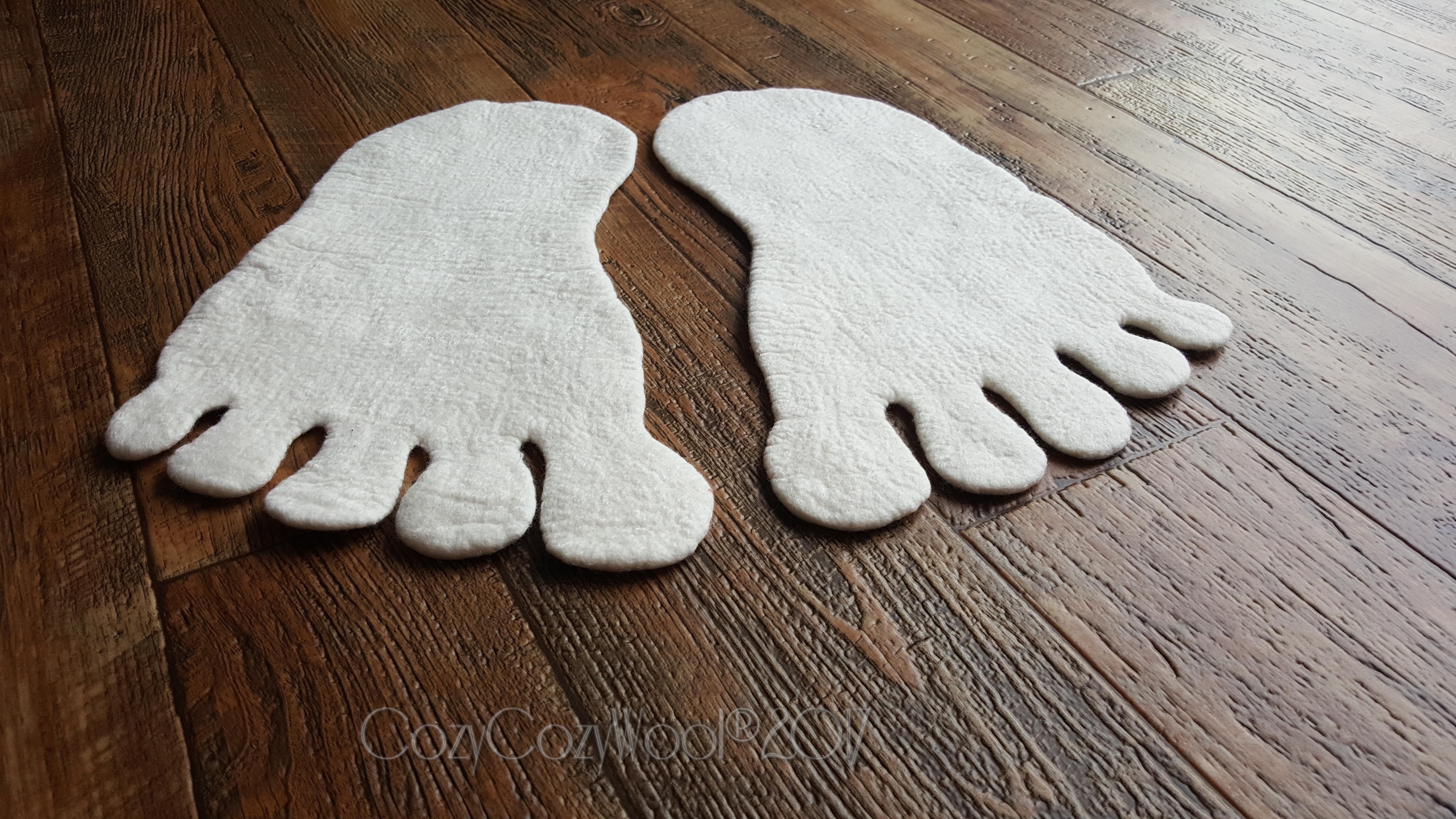 modern bathroom foot print  rug