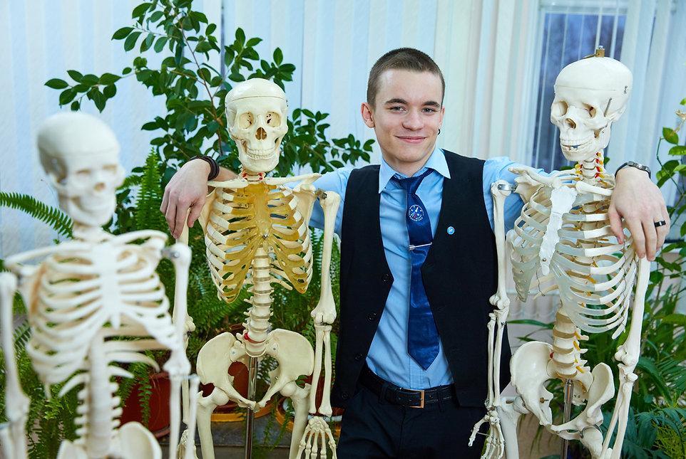 Три скелета и школьник