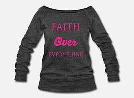 Faith over Eveything Charcol Grey and Ho