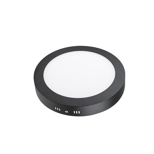Luminária Painel LED de Embutir ou Sobrepor Preta 18W