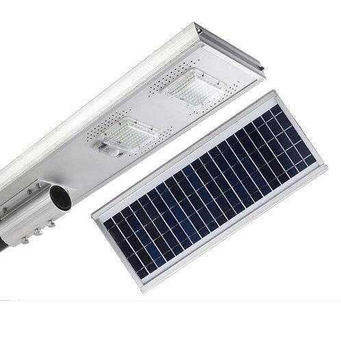 Luminaria Publica Solar Led 150w Com Placa Solar Integrada Completa