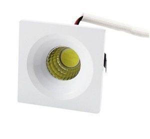 MINI SPOT  LED  COB  3W    QUADRADO  EMBUTIR