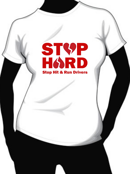 Stop HARD (Stop Hit and Run Driver) shirt with hearts