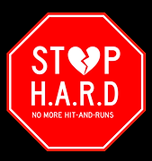 stop hard sign with NO MORE HIT AND RUNS