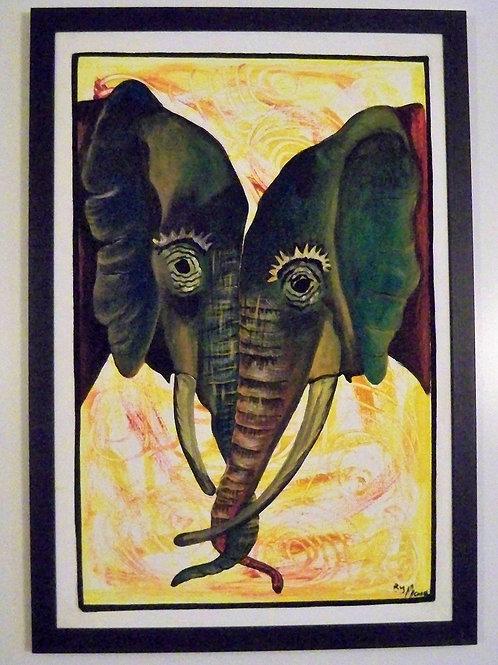 Kissing Trunks Elephants