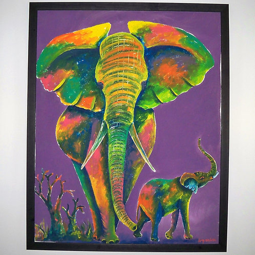 Large purple elephants