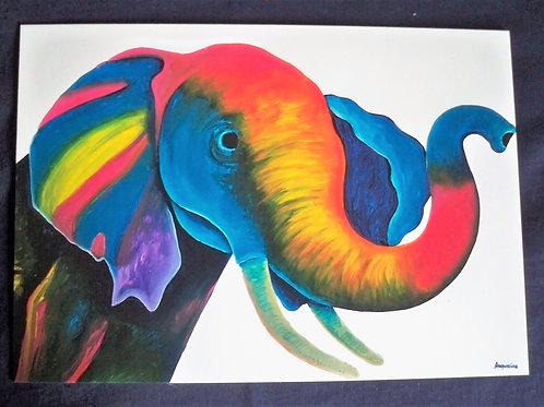 Multi colour elephants head