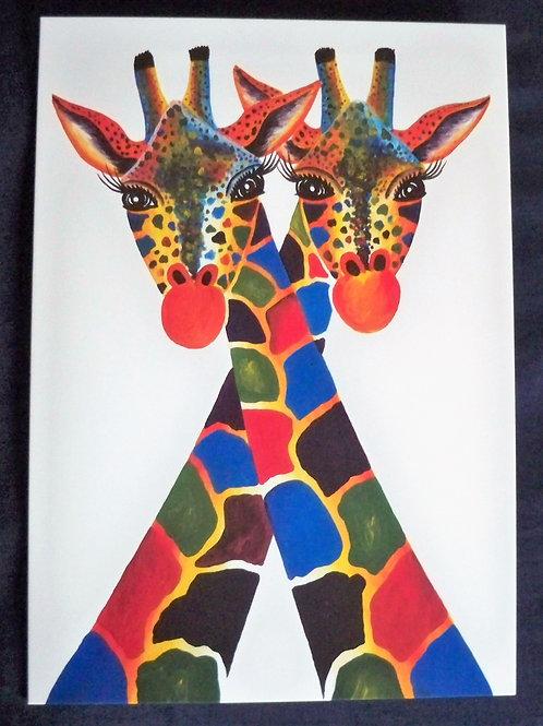 Crossing neck giraffe