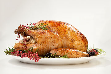 Thanksgiving pepper roasted turkey garni