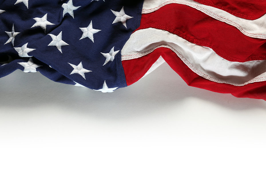 American flag for Memorial Day or 4th of