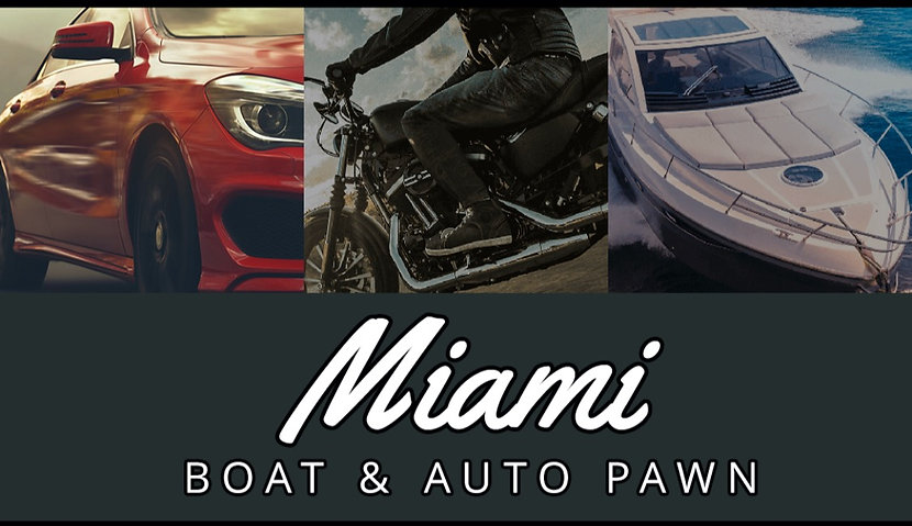 At Miami Boat & Auto Pawn we do fast and simple Title Cash Loans starting at $5,000 all the way up to $200,000 and we do them in one day. Bring your Car, Truck, Motorcycle or Boat with the title in your name and we can get you the money you need, TODAY.