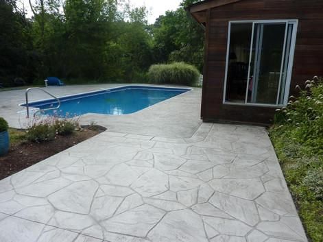 Stamped Concrete Pool Deck Sealing, Westwood, Ma