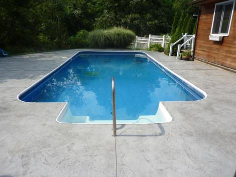 Stamped Concrete Sealing Pool Deck, Westwood, Ma