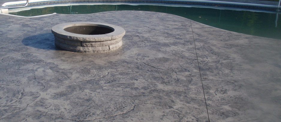 Stamped Concrete Pool Patio, Wrentham, Ma
