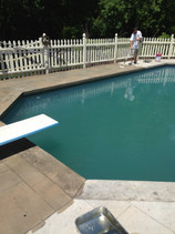 Exposed Aggregate Concrete Sealing Pool Deck, Westwood, Ma