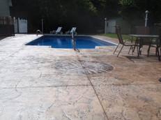 Stamped Concrete Pool Deck Sealing, Dedham, Ma