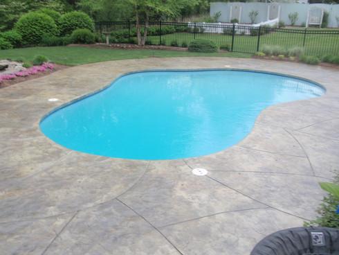 Stamped Concrete Pool Deck Sealing, Wrentham, Ma