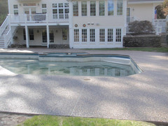 Stamped Concrete Pool Deck Sealing, Franklin, Ma