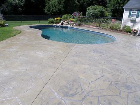 Stamped Concrete Pool Deck Sealing, Wrentham , Ma