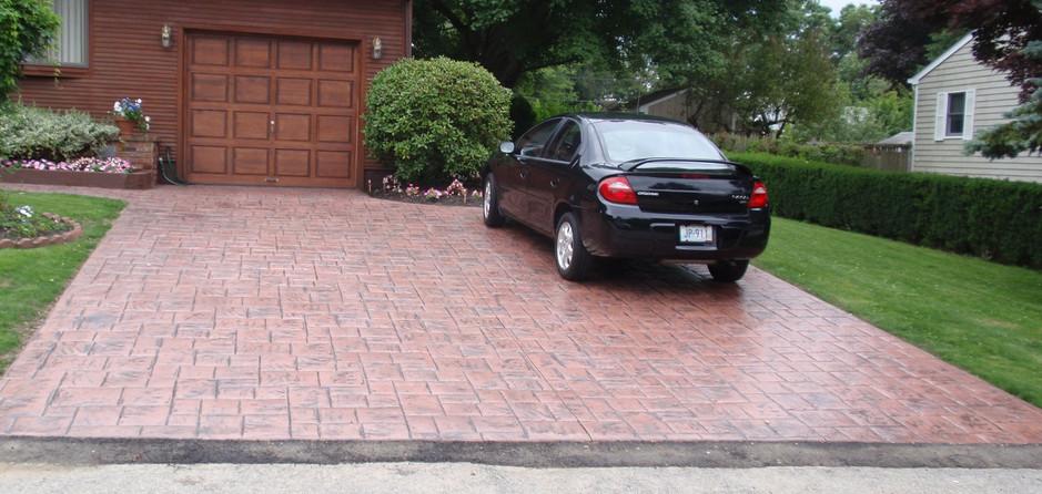 Stamped Concrete Driveway Sealing, Canton , Ma