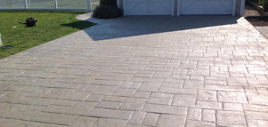 Stamped Concrete Driveway Sealing, Dedham, Ma