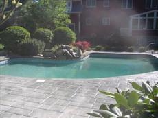 Stamped Concrete Pool Deck Sealing, Dedham , Ma