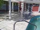 Stamped Concrete Pool Patio Sealing Medw