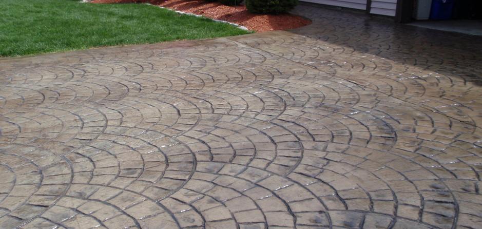 Stamped Concrete Driveway Sealing, Franklin, Ma