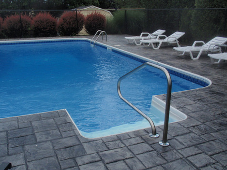 Stamped Concrete Sealing Pool Deck, Dedham, Ma