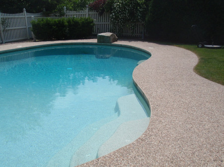 Exposed Aggregate Concrete Sealing Pool Deck, Canton, Ma