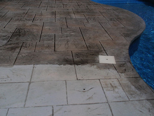Concrete Patio Sealing Before and After
