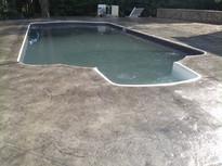 Stamped Concrete Sealing Pool Deck, Wrentham, M
