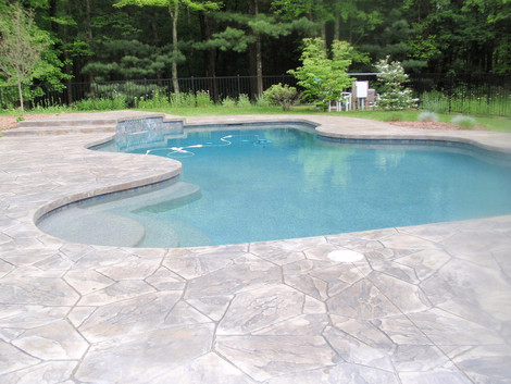 Stamped Concrete Pool Patio Sealing Norwood, Ma