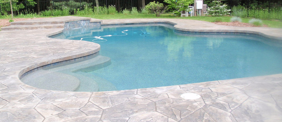 Stamped Concrete Pool Patio,Canton, Ma