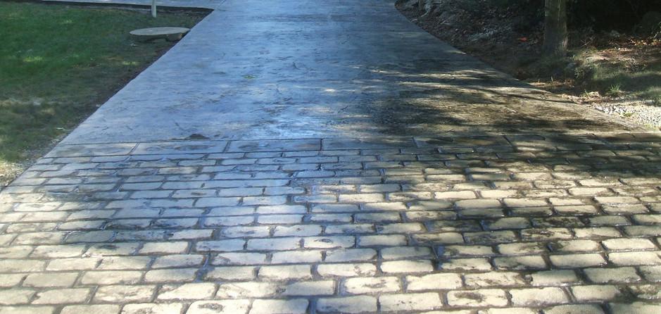 Stamped Concrete Driveway Sealing, Wrentham, Ma