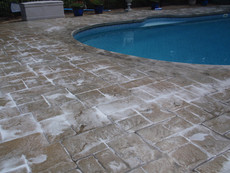 Stamped Concrete Sealing Pool Deck, Franklin, Ma