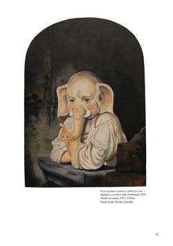 Graeme Compton Elephandt at a window