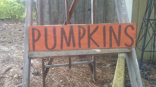 Pumpkins Sign