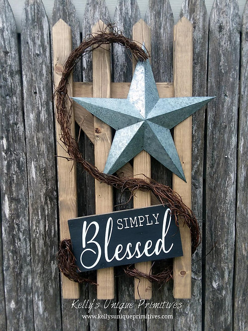 Simply Blessed Fence