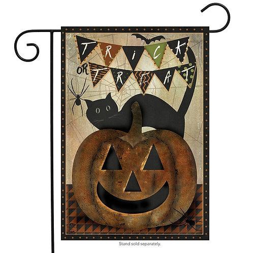 Trick or Treat Cat Garden Flag