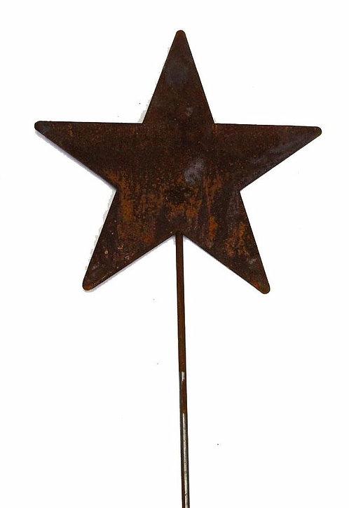 Rusty Star Yard Stake