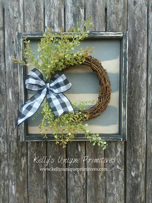 Farmhouse Grapevine Wreath w/Greenery