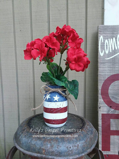 Americana Mason Jar