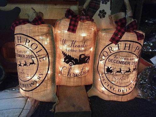 Christmas Burlap Bags